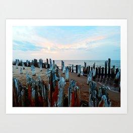Sentinels at Sunset Art Print