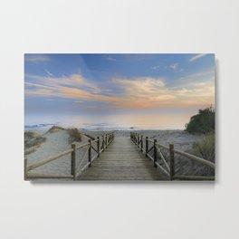 "The path..., the beach.... ""Artola"". Metal Print"