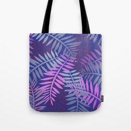 Violet pink palm leaves pattern Design #leaves Tote Bag