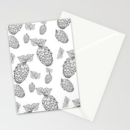 Hops pattern with leafs Stationery Cards