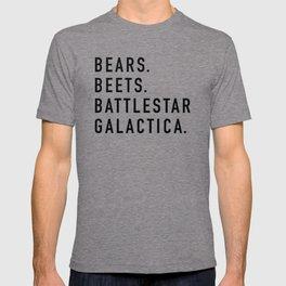 Bears Beets Battlestar T-shirt