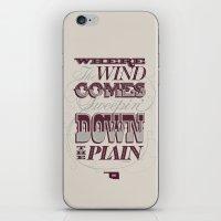 Sweepin' Down The Plain iPhone & iPod Skin