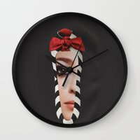 motivation Wall Clocks featuring Motivation by Jitka Kopejtkova