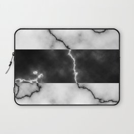 Black and white marble texture 10 Laptop Sleeve