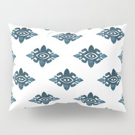Evil Eyes Blue Pillow Sham