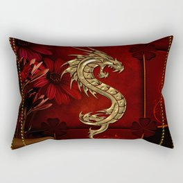 Wonderful golden chinese dragon Rectangular Pillow