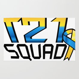 T21 Squad Down Syndrome Awareness Rug