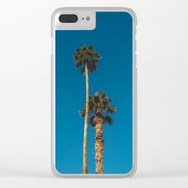 Palm Springs Palms Clear iPhone Case
