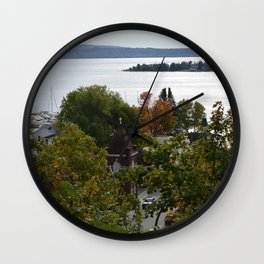 Harbor Srings Bay- View from Bluff(2) Wall Clock