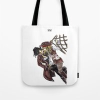 pirates Tote Bags featuring PIRATES. by Maryne.