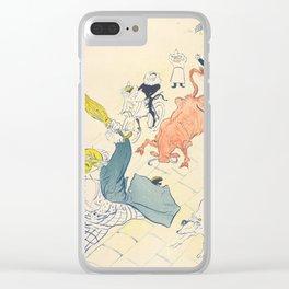 """Henri de Toulouse-Lautrec """"La Vache Enragée (The Mad Cow)"""" Clear iPhone Case"""