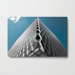 Abstract City Architecture Modern Color Print Metal Print