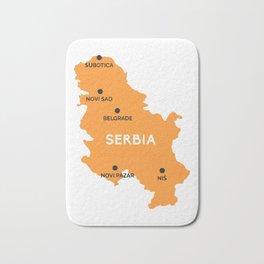 Serbia Map Belgrade Bath Mat