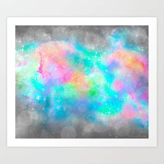 The Soul Becomes Dyed With the Colors of it's Thoughts (Galactic Watercolors) Art Print