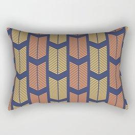 Blue, Orange & Yellow Arrow Pattern  Rectangular Pillow