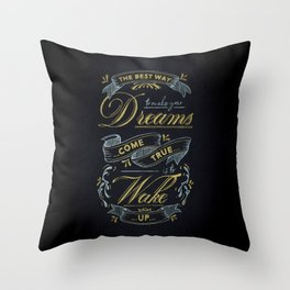 Dreams - Typography Throw Pillow