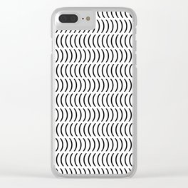 Smiley Small B&W Clear iPhone Case