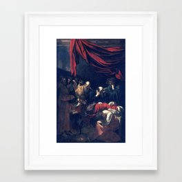 Caravaggio Death of the Virgin Framed Art Print