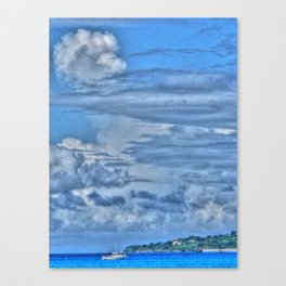 Clouds and Boat, Frederiksted - St. Croix, U.S. Virgin Islands - 2011 Canvas Print