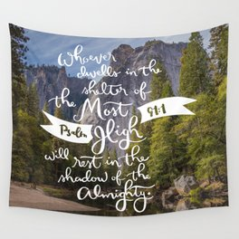 Psalm 91 with Background Wall Tapestry