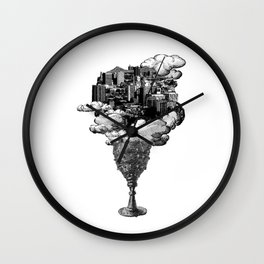 city of cups Wall Clock