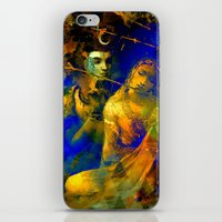 hindu iPhone & iPod Skins featuring Shiva The Auspicious One - The Hindu God by sarvesh