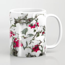 SNOW COVERED HOLLY Coffee Mug