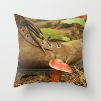 mushroom Throw Pillows featuring Mushroom by JCalls Photography