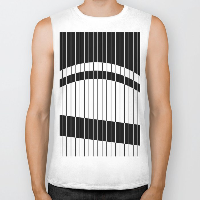 Colour Blind (Abstract, minimalistic black and white) Biker Tank