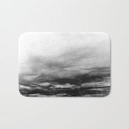 WHITE & BLACK TOUCHING #1 #abstract #decor #art #society6 Bath Mat