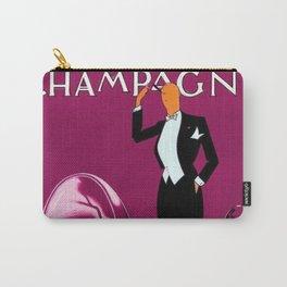 Vintage Champagne Pink Veuve A. Devaux, Paris, France Jazz Age Roaring Twenties Advertisement Poster Carry-All Pouch