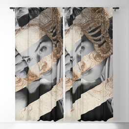 Leonardo Da Vinci's Head of Leda & Ingrid Bergman Blackout Curtain