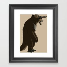 Where is the honey? Framed Art Print