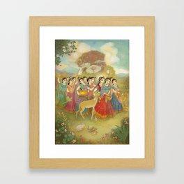 Radha Walks to Nandagaon Framed Art Print