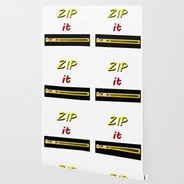 Zip it Black Yellow Red jGibney The MUSEUM Gifts Wallpaper