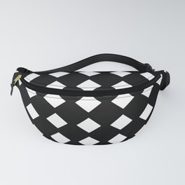 rhombus and tartan 5–  black and white Fanny Pack