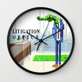 Litigation Office Wall Clock