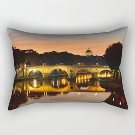 St. Peter in the Vatican with Ponte Sisto in first term. Rectangular Pillow