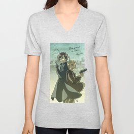 Sherlock Holmes and John Watson - The Game is On Unisex V-Neck
