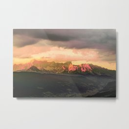 Escaping  -  Mountains - Dachstein, Austria Metal Print