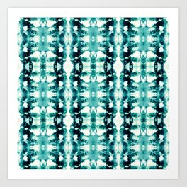 Tie-Dye Teals Art Print