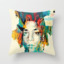 THE RADIANT CHILD (Jean-Michel Basquiat) Throw Pillow