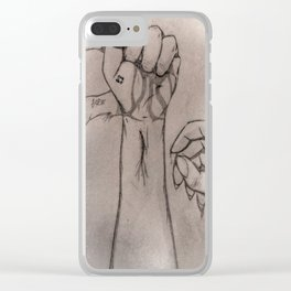 Grasping Hope Clear iPhone Case