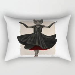 Twirling, Twirling, Couture Kitty Rectangular Pillow