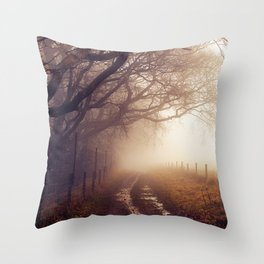 Heading Into the Mist Throw Pillow