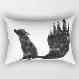 Black Fox Rectangular Pillow