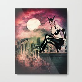 at night in the city  Metal Print