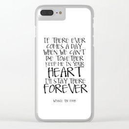 Winnie the Pooh Art Printable Quote Love Sign Girlfriend Gift Women Gift Gifts For Friends Best Clear iPhone Case