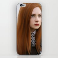 amy pond iPhone & iPod Skins featuring AMY POND  by Kayla Theodorou