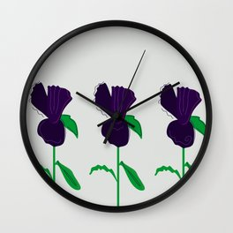 LUXURY COLLECTION : Flowers purple Wall Clock